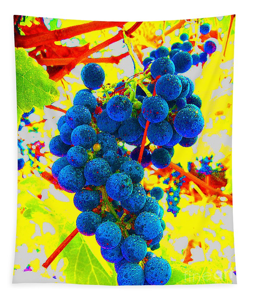 Grapes Tapestry featuring the photograph Grapes by Jerome Stumphauzer