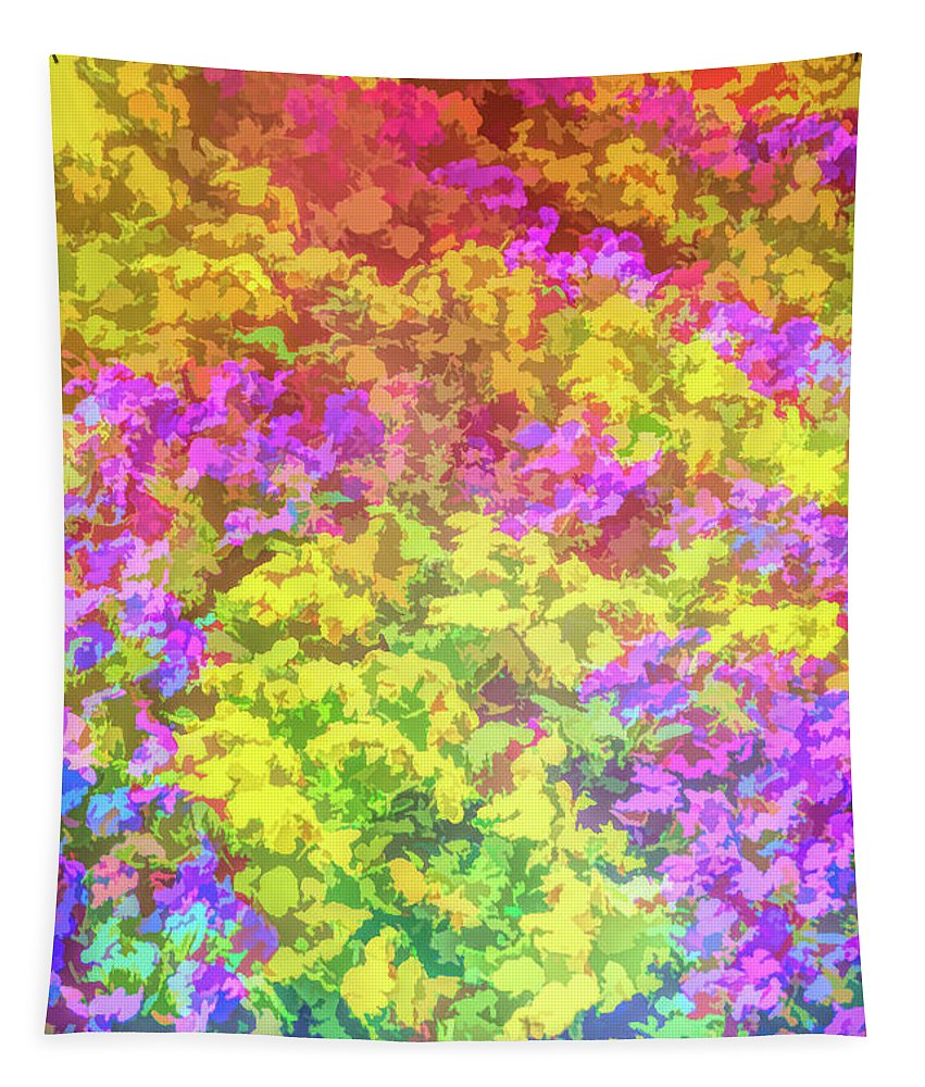 Flower Tapestry featuring the photograph Graphic Rainbow Colorful Garden by Aimee L Maher ALM GALLERY