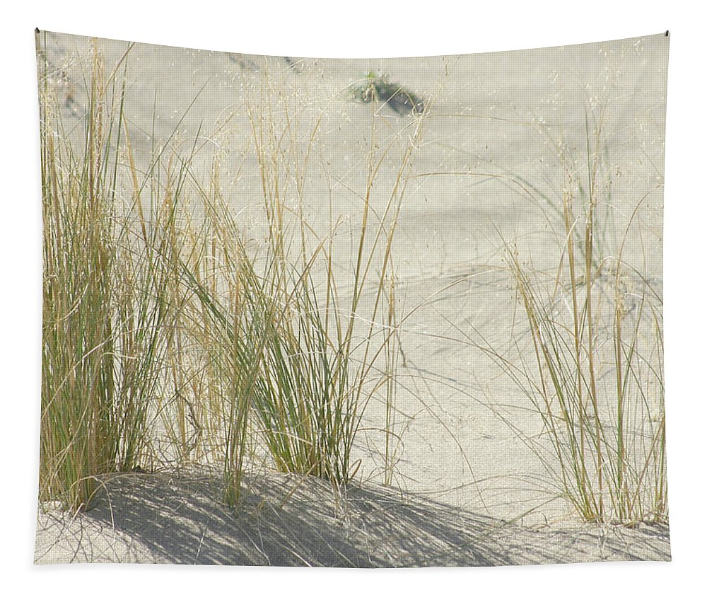Grass Tapestry featuring the photograph Grasses On The Beach by Wendy Raatz Photography