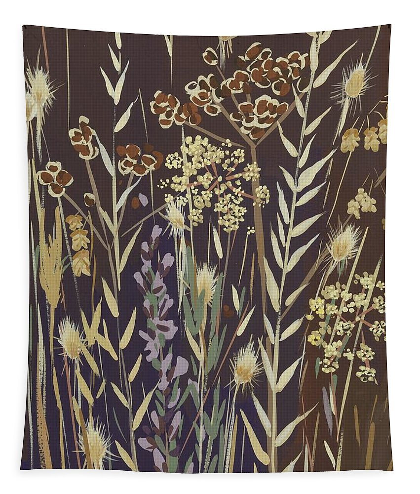 Grasses Tapestry featuring the painting Grasses by Sarah Gillard