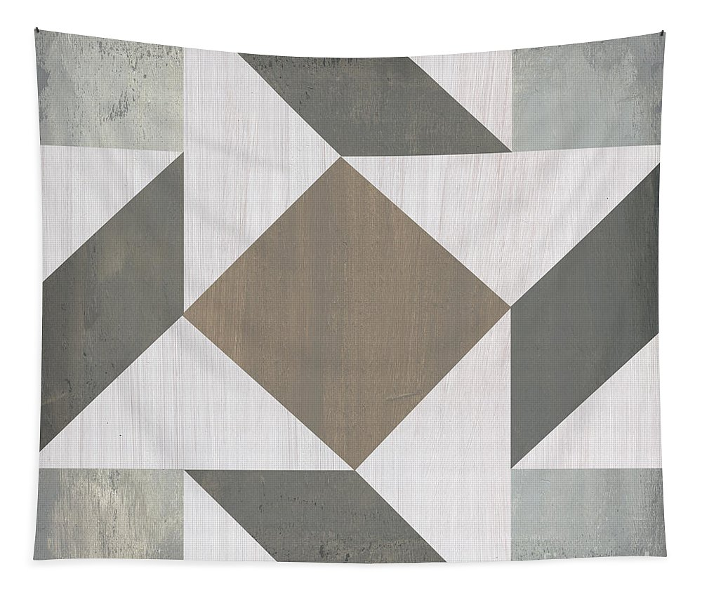 Quilt Tapestry featuring the painting Gray Quilt by Debbie DeWitt