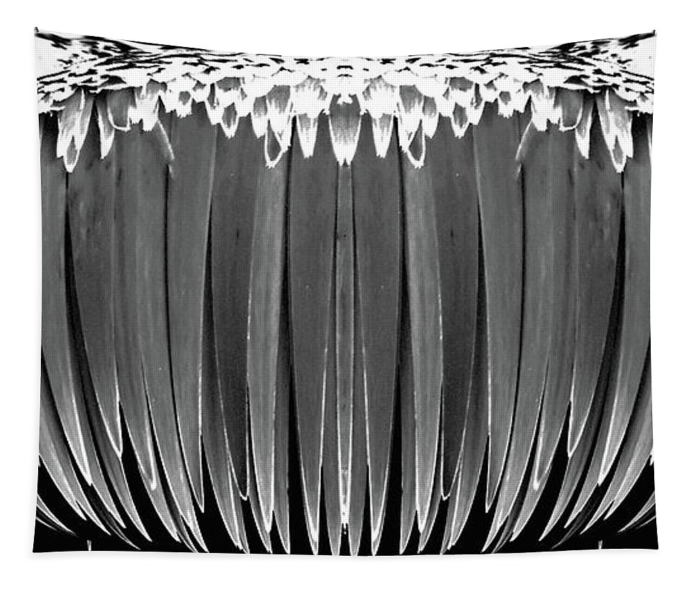 Digital Art Tapestry featuring the photograph Grayscale Swollen Icicles by Marian Bell
