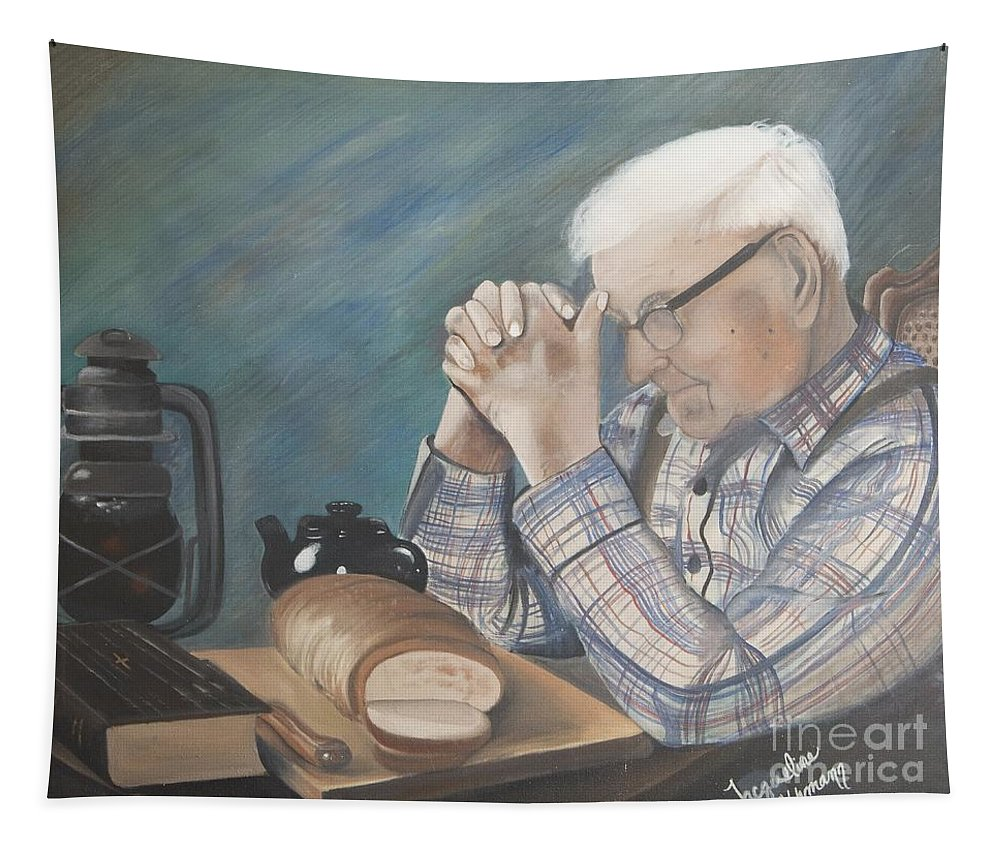 Great Grandpa Tapestry featuring the painting Great Grandpa by Jacqueline Athmann
