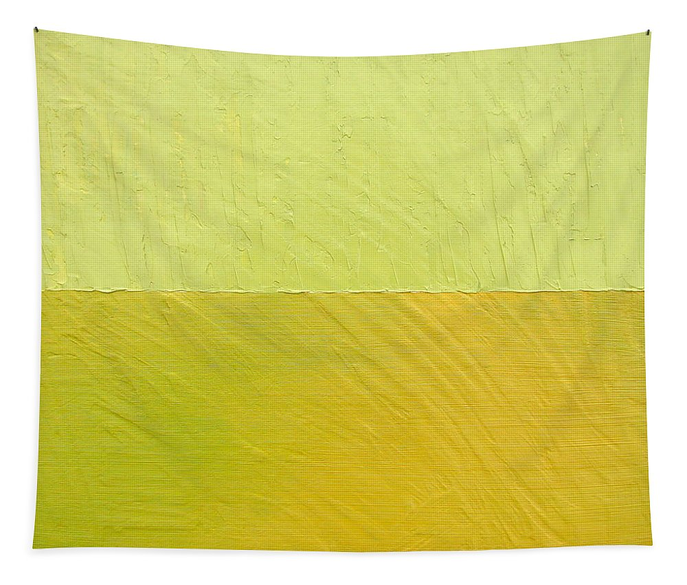 Pea Tapestry featuring the painting Green And Greenish by Michelle Calkins