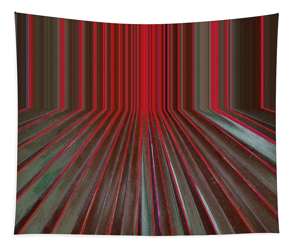 Digital Tapestry featuring the digital art Red Room by Michelle Calkins