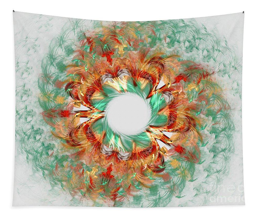 Digital Tapestry featuring the digital art Green Comet by Deborah Benoit