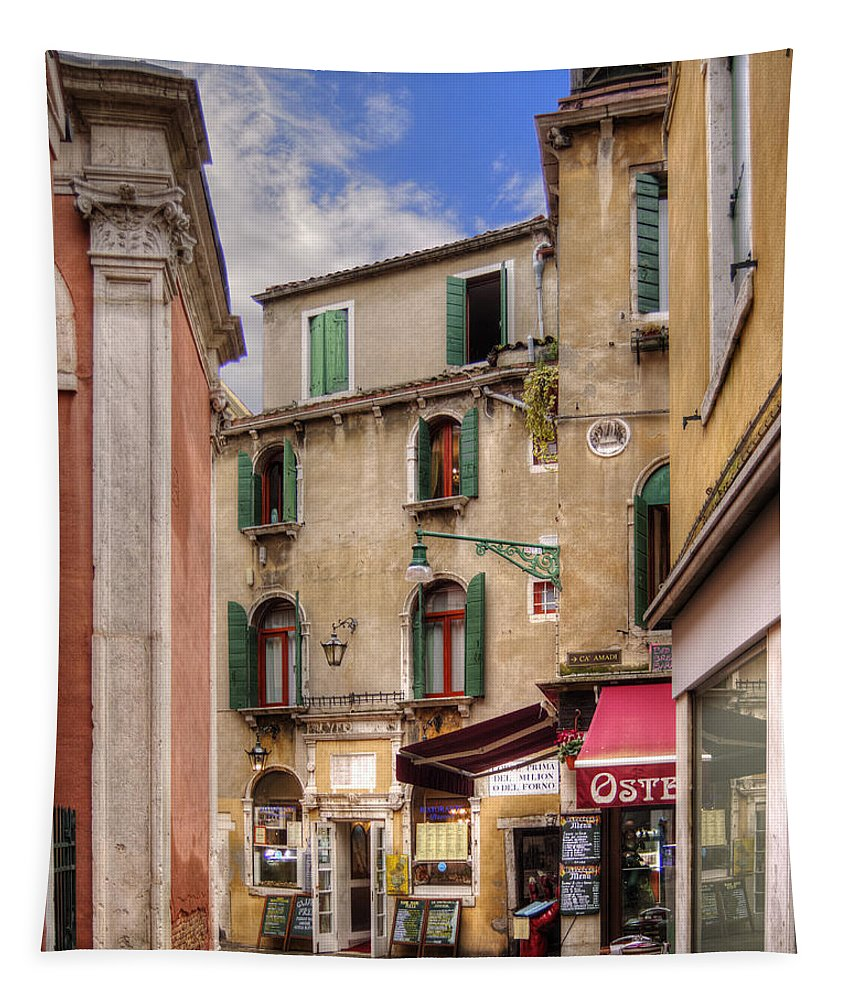 Venice Tapestry featuring the photograph Green Shutters by Darin Williams