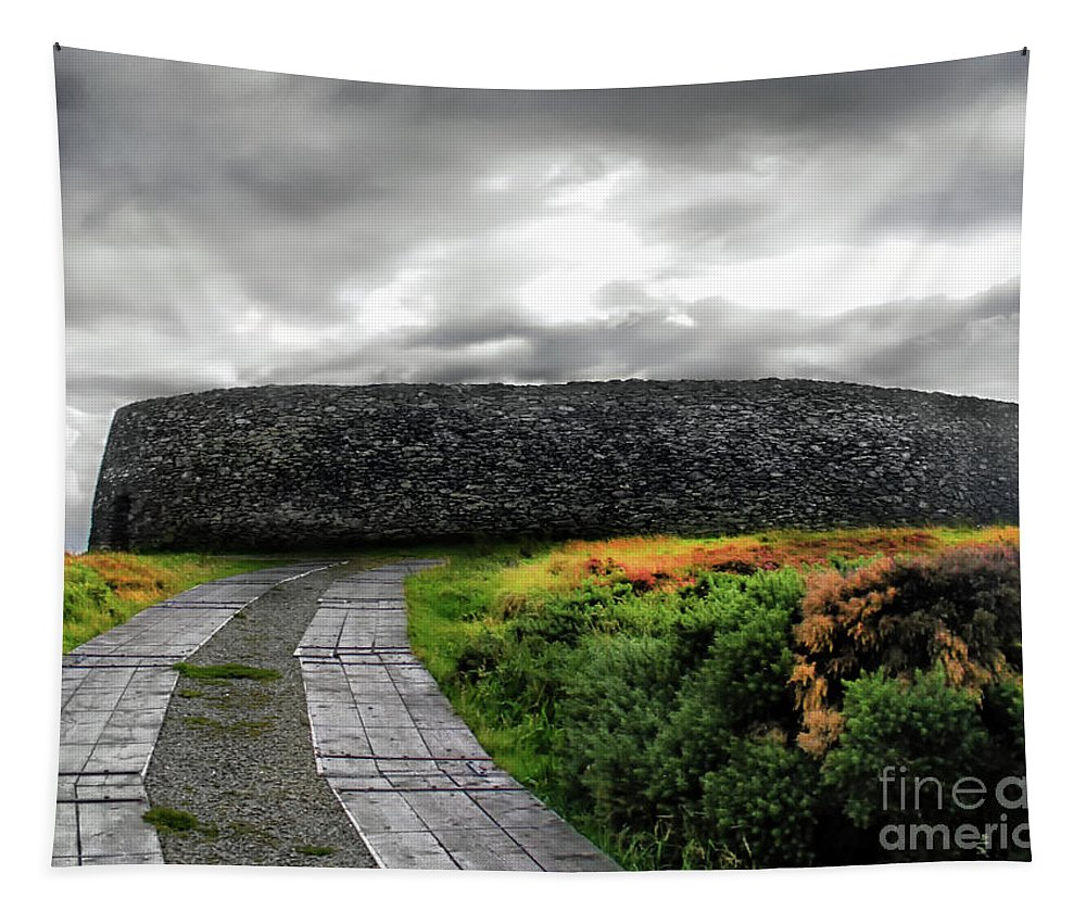 Grianan Of Aileach Tapestry featuring the photograph Grianan Fort by Nina Ficur Feenan