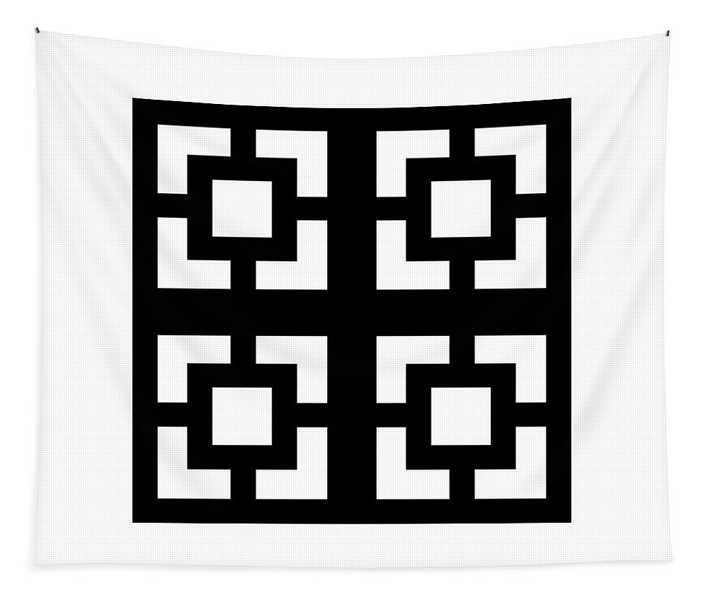 Mid Century Modern Tapestry featuring the digital art Grid 1 by Donna Mibus