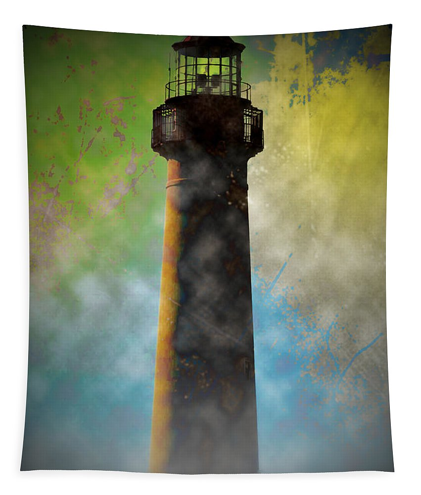Grunge Tapestry featuring the photograph Grunge Lighthouse by Bill Cannon