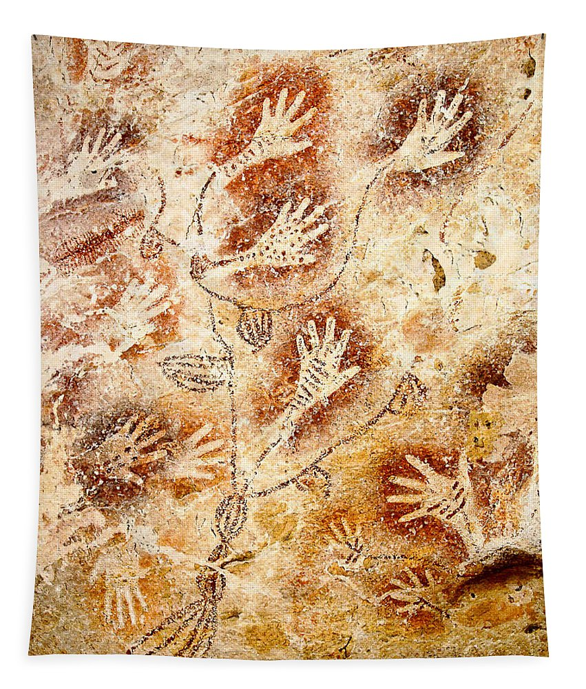Gua Tewet Tapestry featuring the digital art Gua Tewet - Tree Of Life by Weston Westmoreland
