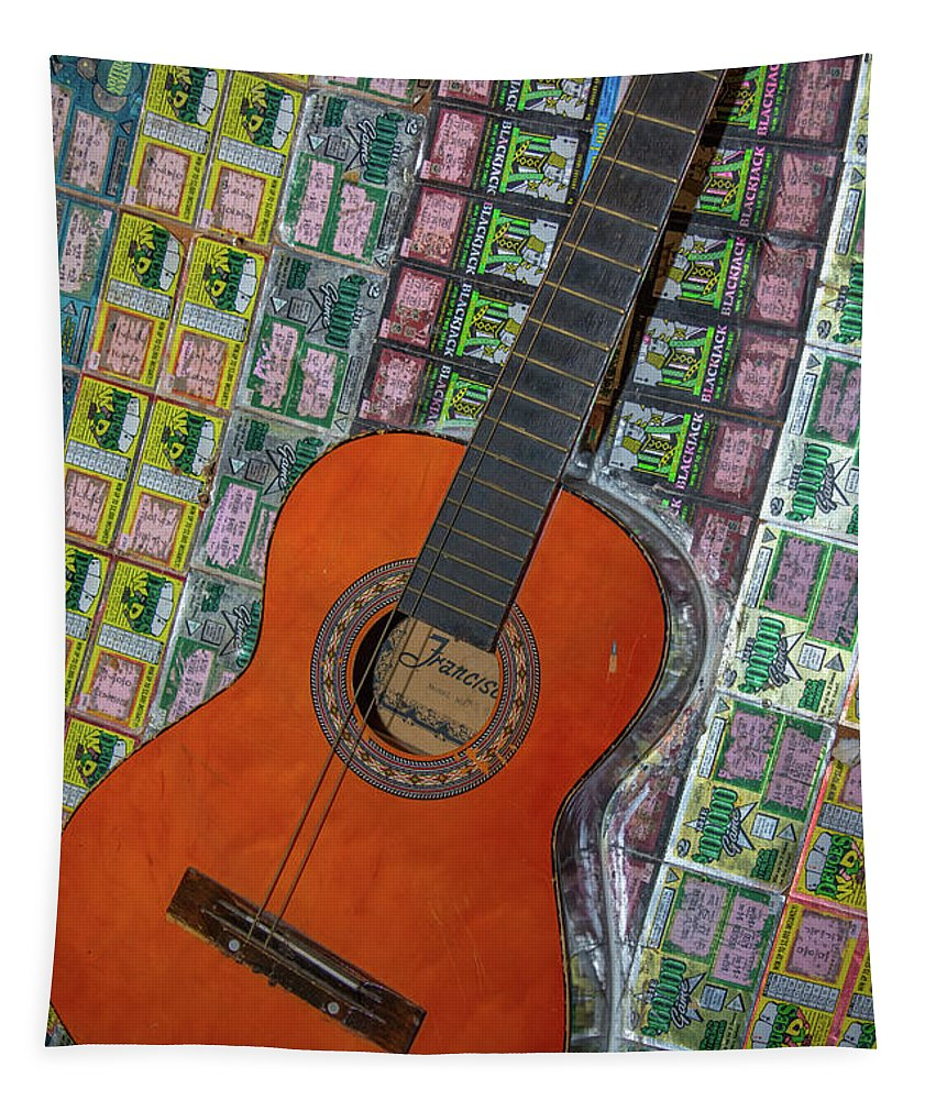 Music Tapestry featuring the photograph Guitar by Pamela Williams