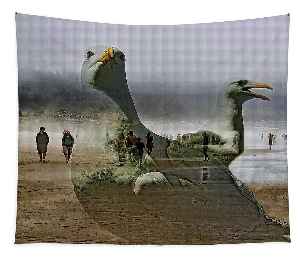 Seascape Tapestry featuring the photograph Gulls Dream by David Patterson