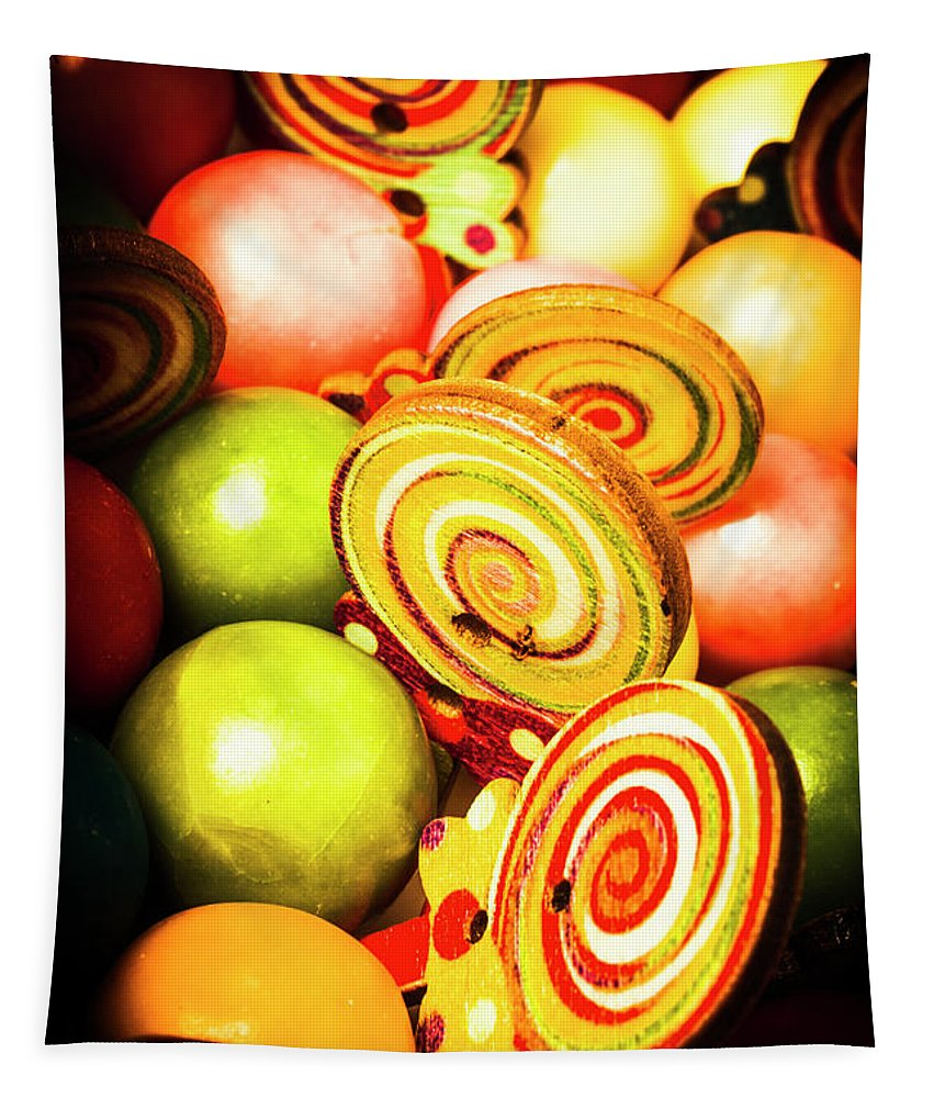 Gumballs Tapestry featuring the photograph Gumdrops And Candy Pops by Jorgo Photography - Wall Art Gallery