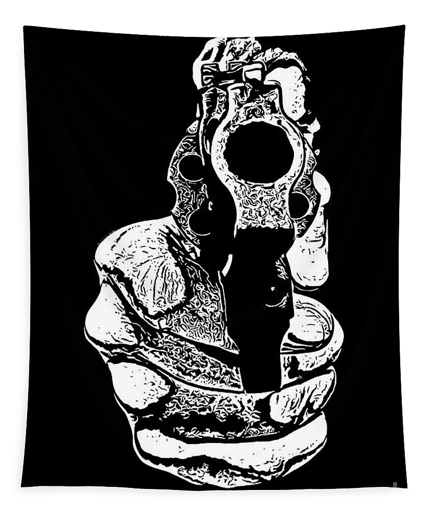 Gunman Tapestry featuring the photograph Gunman T-shirt by Edward Fielding