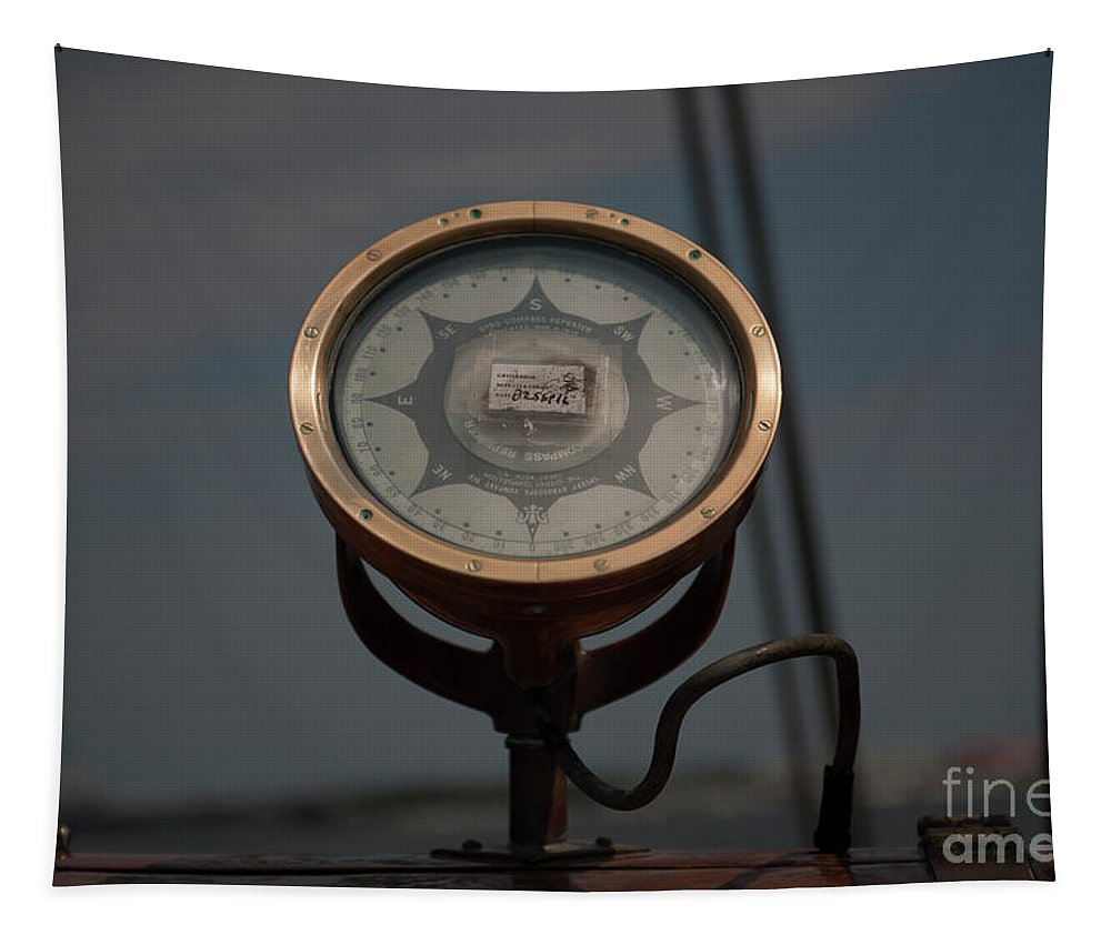 Tall Ship Tapestry featuring the photograph Gyro Compass Repeater by Dale Powell