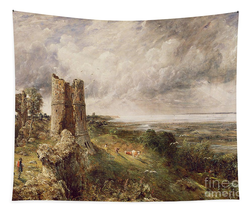 Hadleigh Tapestry featuring the painting Hadleigh Castle by John Constable