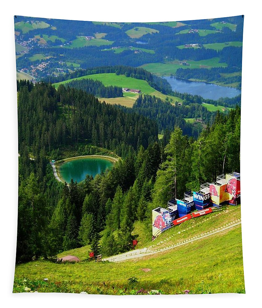 Europe Tapestry featuring the photograph Hahnenkamm - Kitzbuehel by Juergen Weiss