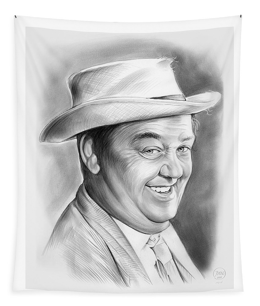 Hal Smith Tapestry featuring the drawing Hal Smith by Greg Joens