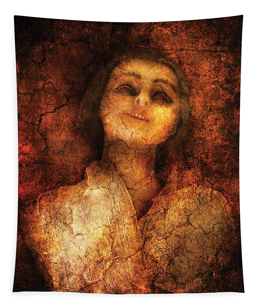 Creepy Tapestry featuring the photograph Halloween - Meet Ms Creepy by Mike Savad