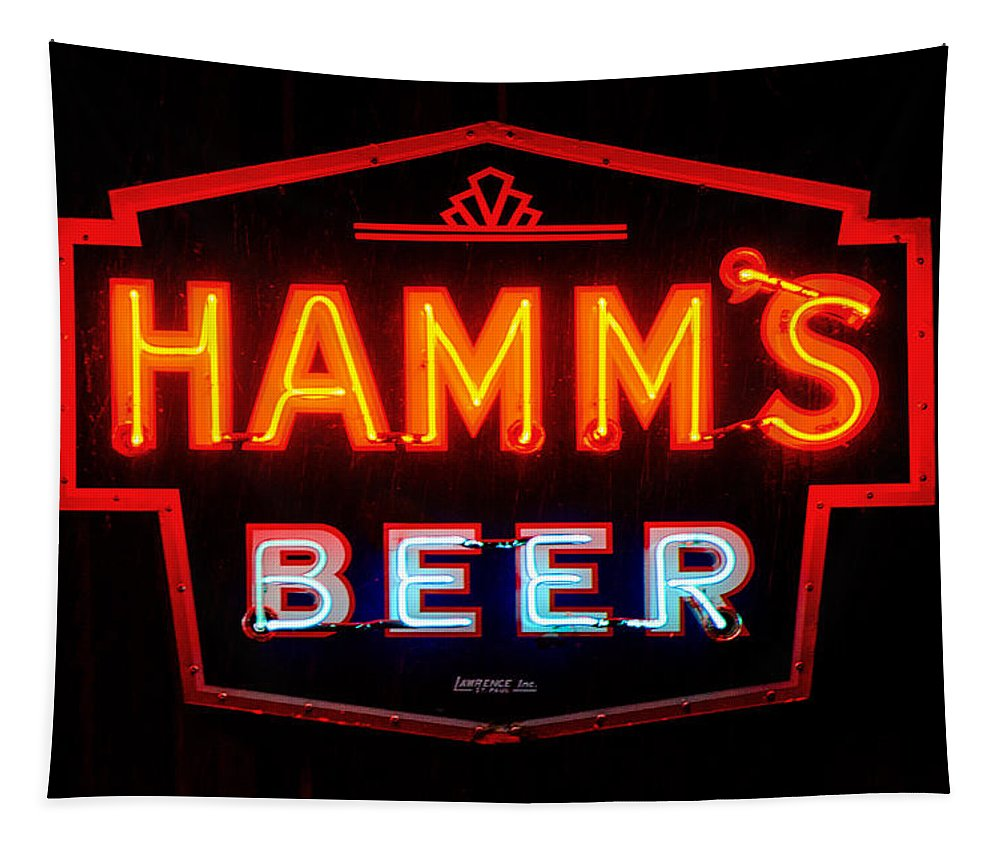 Hamm's Beer Tapestry featuring the photograph Hamm's Beer by Susan McMenamin