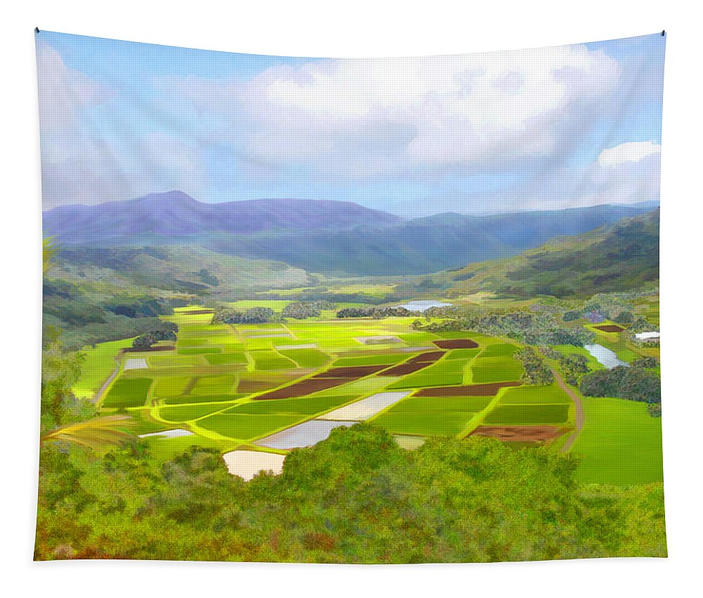 Hawaii Tapestry featuring the photograph Hanalai by Kurt Van Wagner