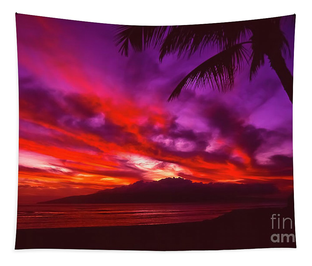 Landscapes Tapestry featuring the photograph Hand of Fire by Jim Cazel