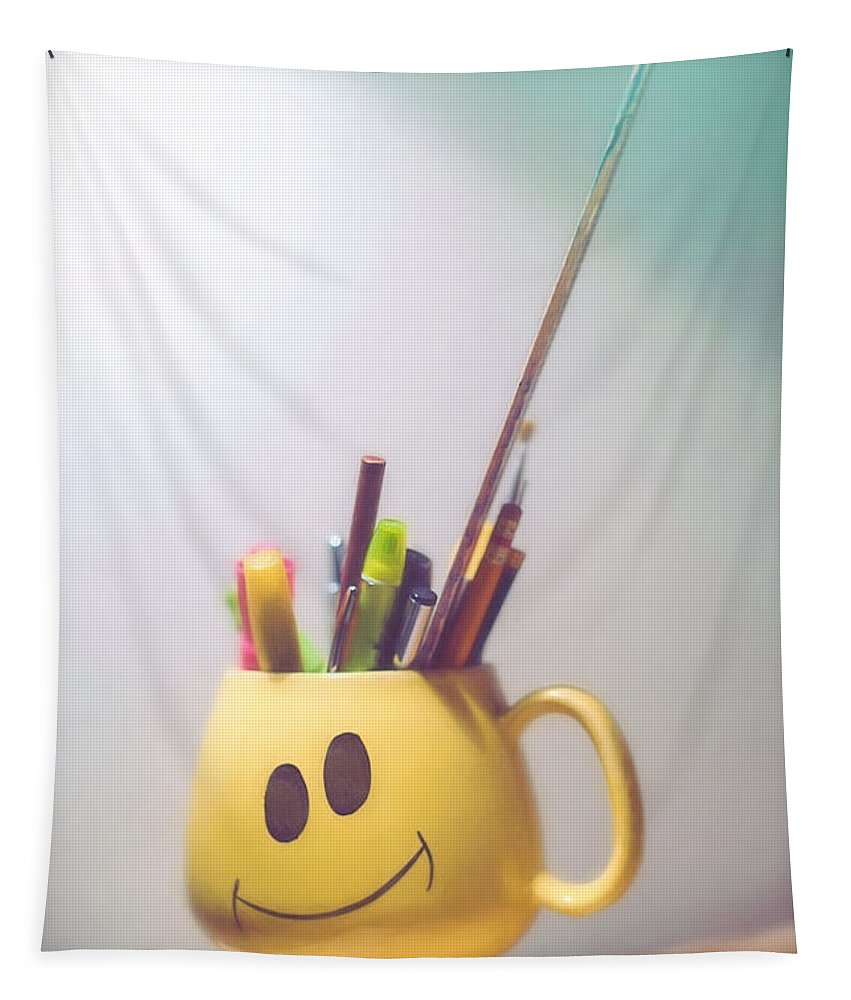 Coffee Cup Tapestry featuring the photograph Happiness Is by Scott Norris