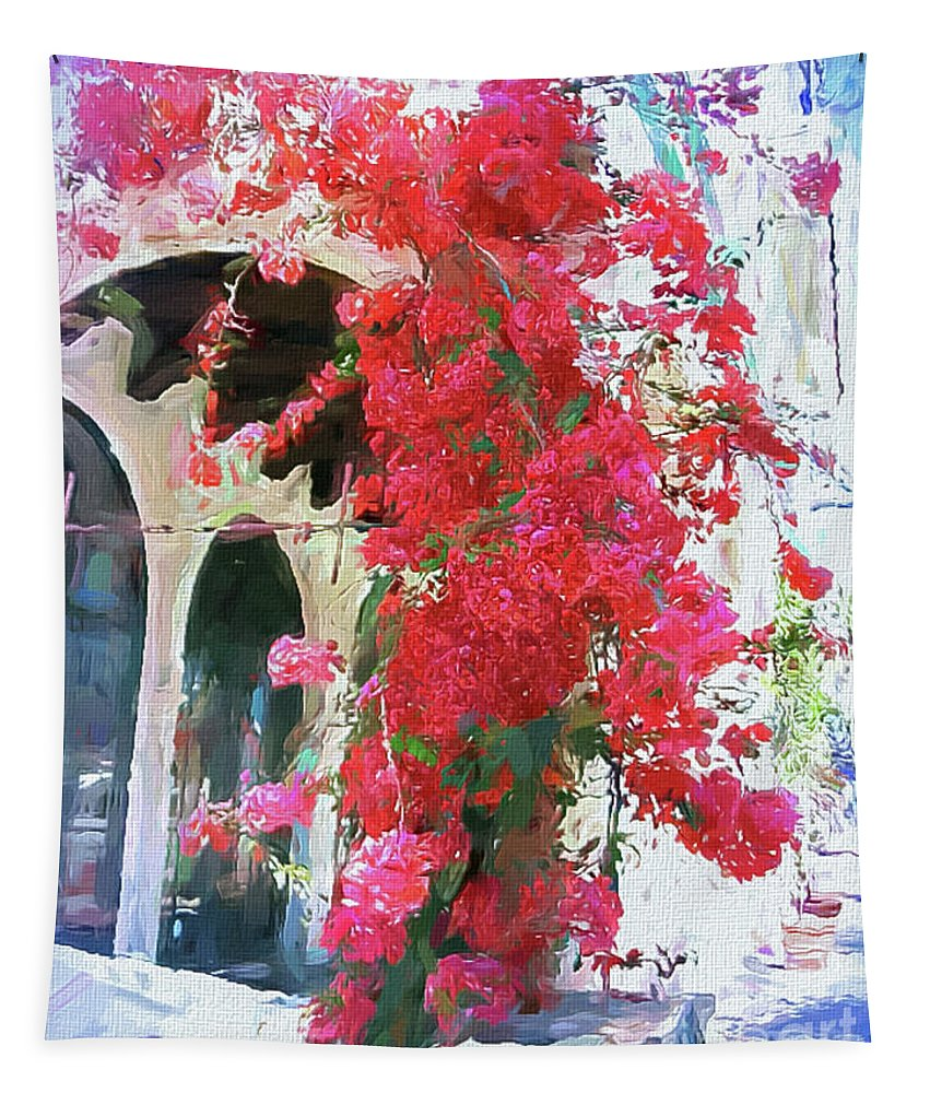 Mona Stut Tapestry featuring the digital art Happy Summer Days by Mona Stut
