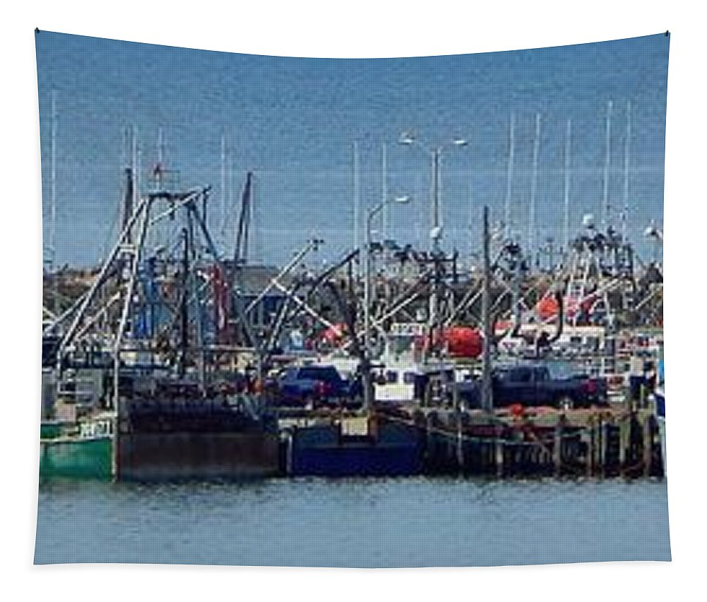 Harbor View Tapestry featuring the photograph Harbor View by Karen Cook