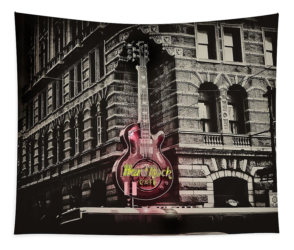 Philadelphia Tapestry featuring the photograph Hard Rock Philly by Bill Cannon