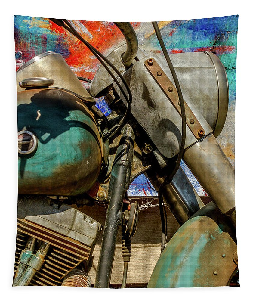 Motor Tapestry featuring the photograph Harley Davidson - American Icon II by Bill Gallagher