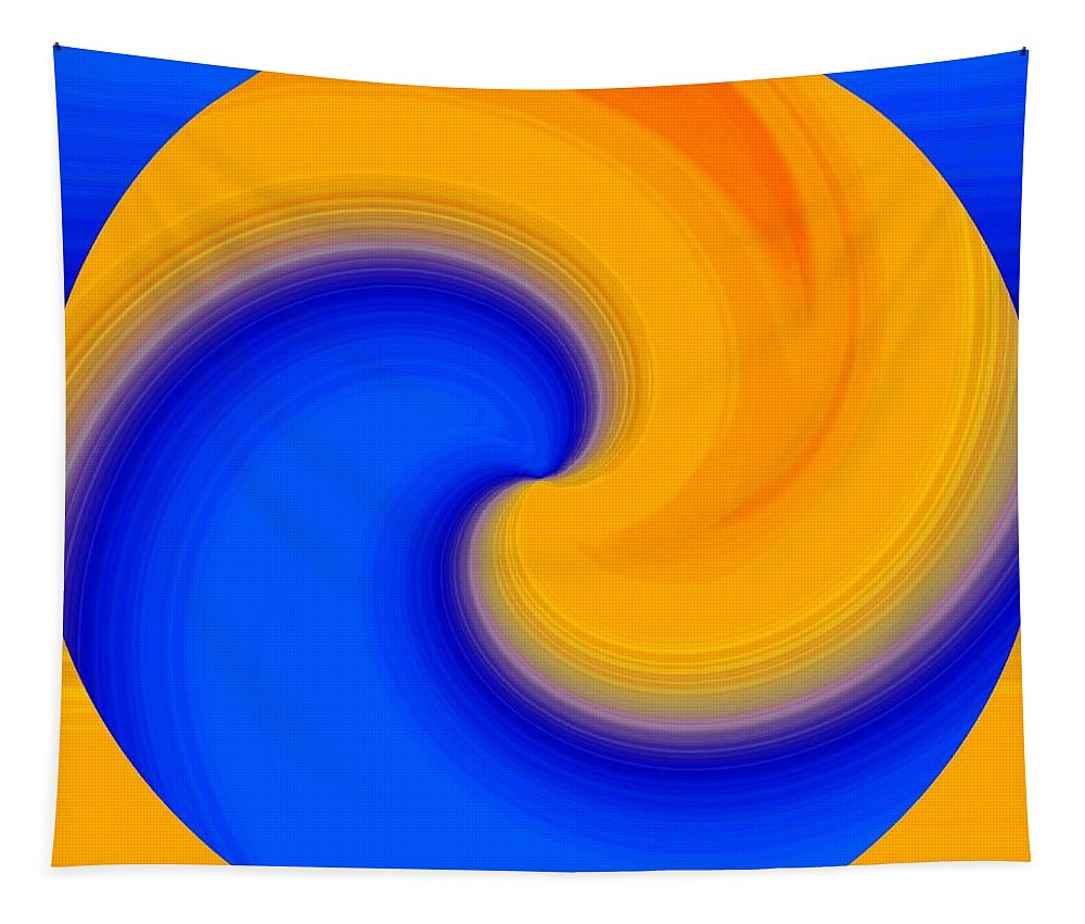 Abstract Tapestry featuring the digital art Harmony 23 by Will Borden