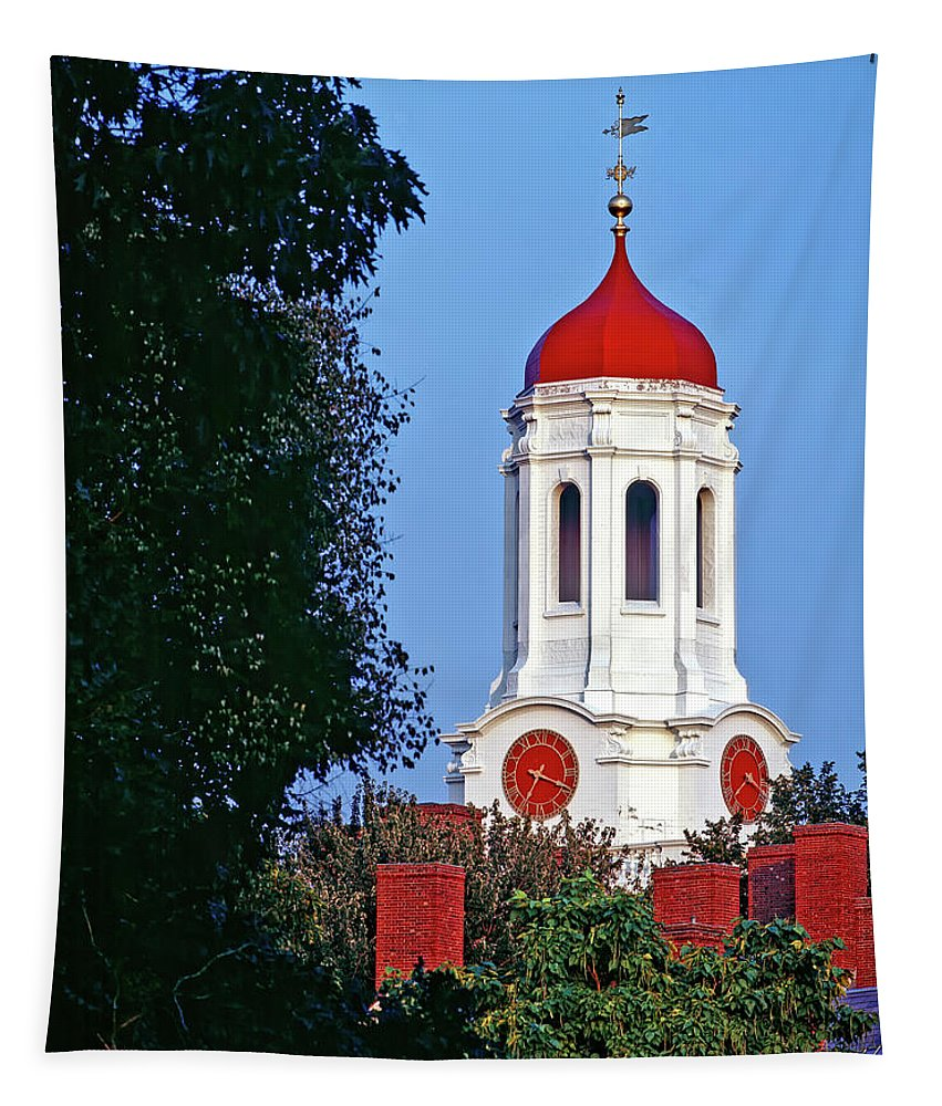 Boston Tapestry featuring the photograph Harvard's Dunster House by Mountain Dreams