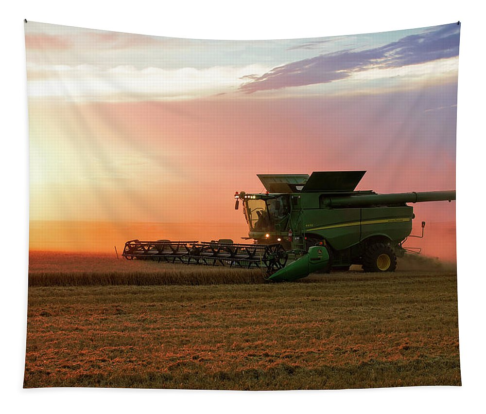 Barley Tapestry featuring the photograph Harvest Colors by Todd Klassy