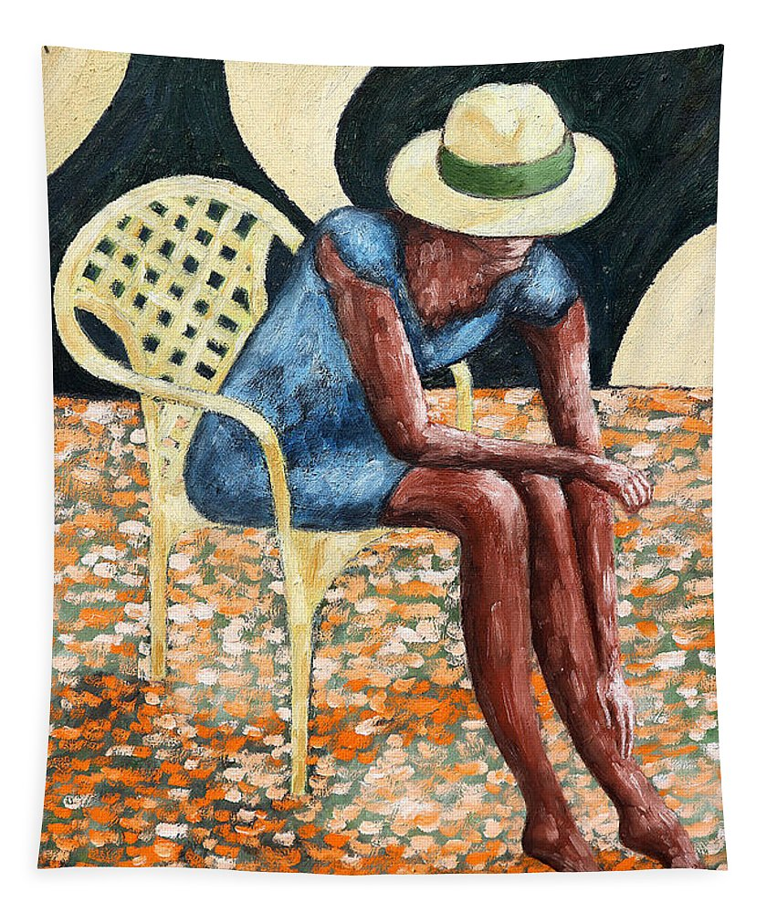 Valentine Tapestry featuring the painting HAT by Patrick J Murphy
