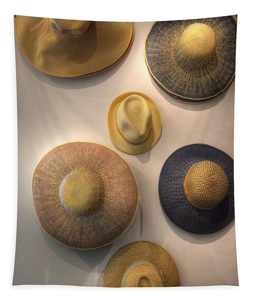 Hats Tapestry featuring the photograph Hats by Linda Covino