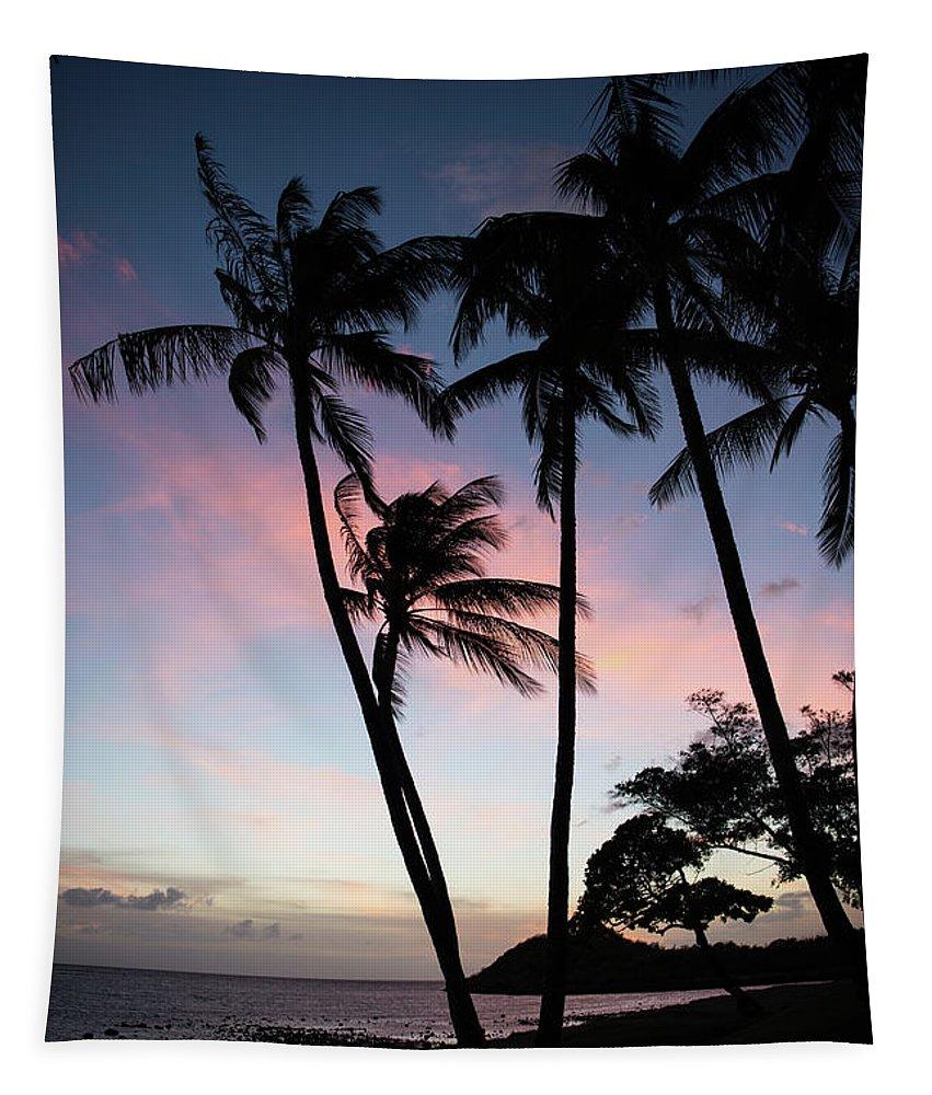 Hawaii Tapestry featuring the photograph Hawaiian Sunset On Molokai by Ralf Broskvar