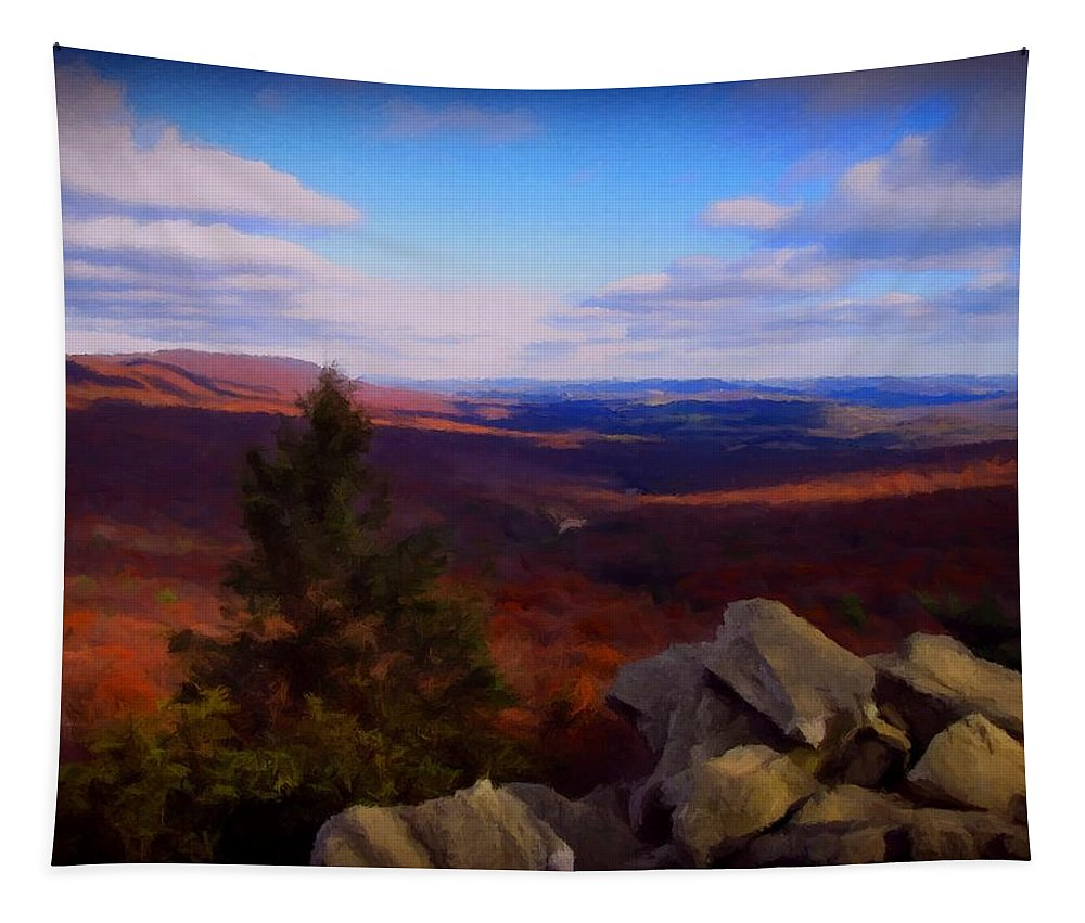 Mountain Tapestry featuring the photograph Hawk Mountain Pennsylvania by David Dehner