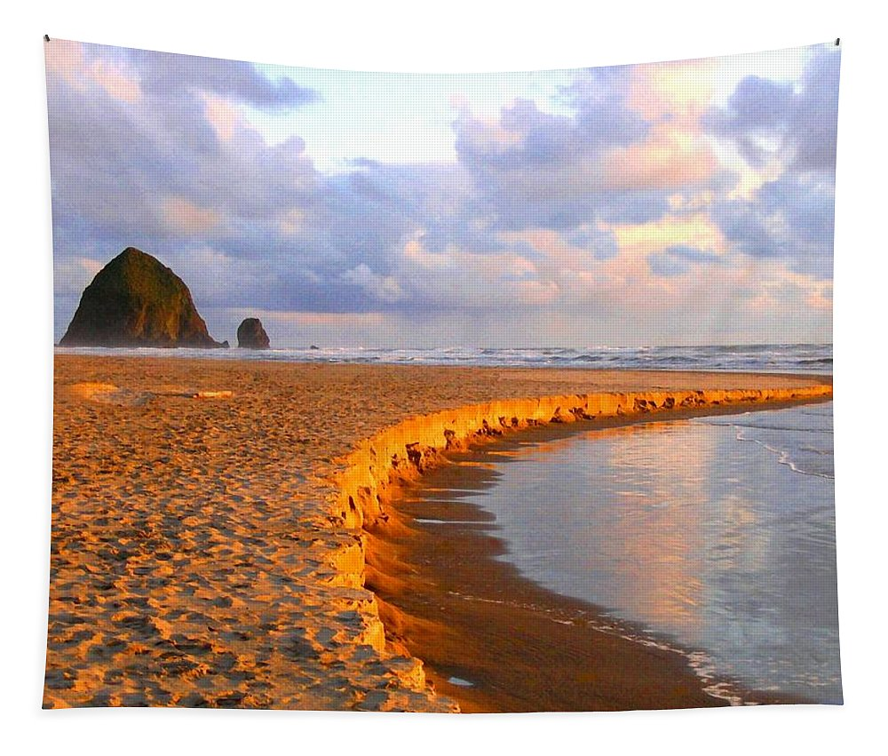 Haystack Heaven Tapestry featuring the digital art Haystack Heaven by Will Borden