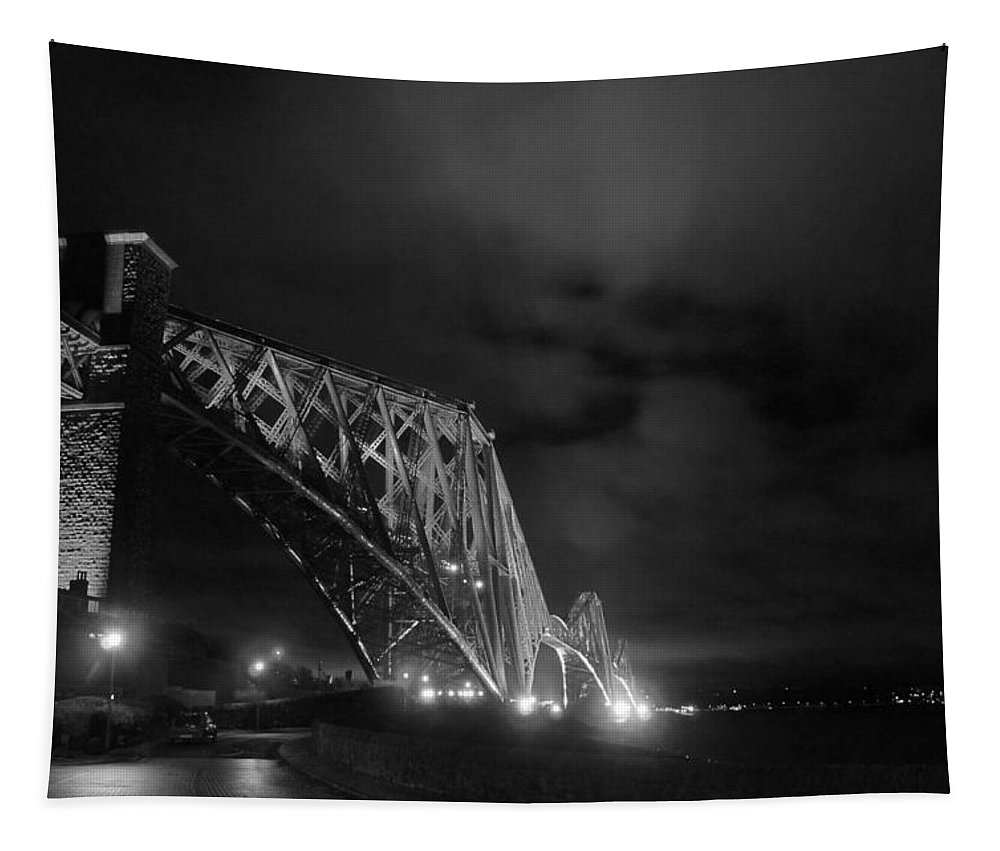 North Queensferry Tapestry featuring the photograph Hazy Lights In The Night by Elena Perelman