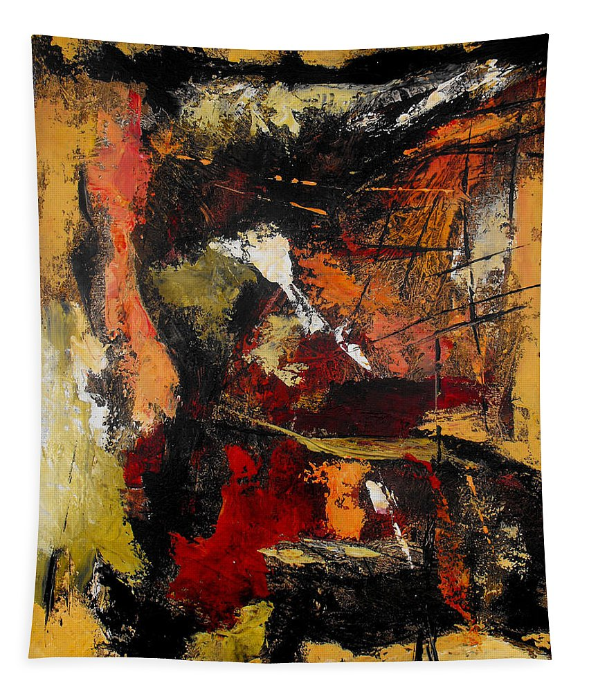 Abstract Tapestry featuring the painting He Reigns Supreme Forever by Ruth Palmer