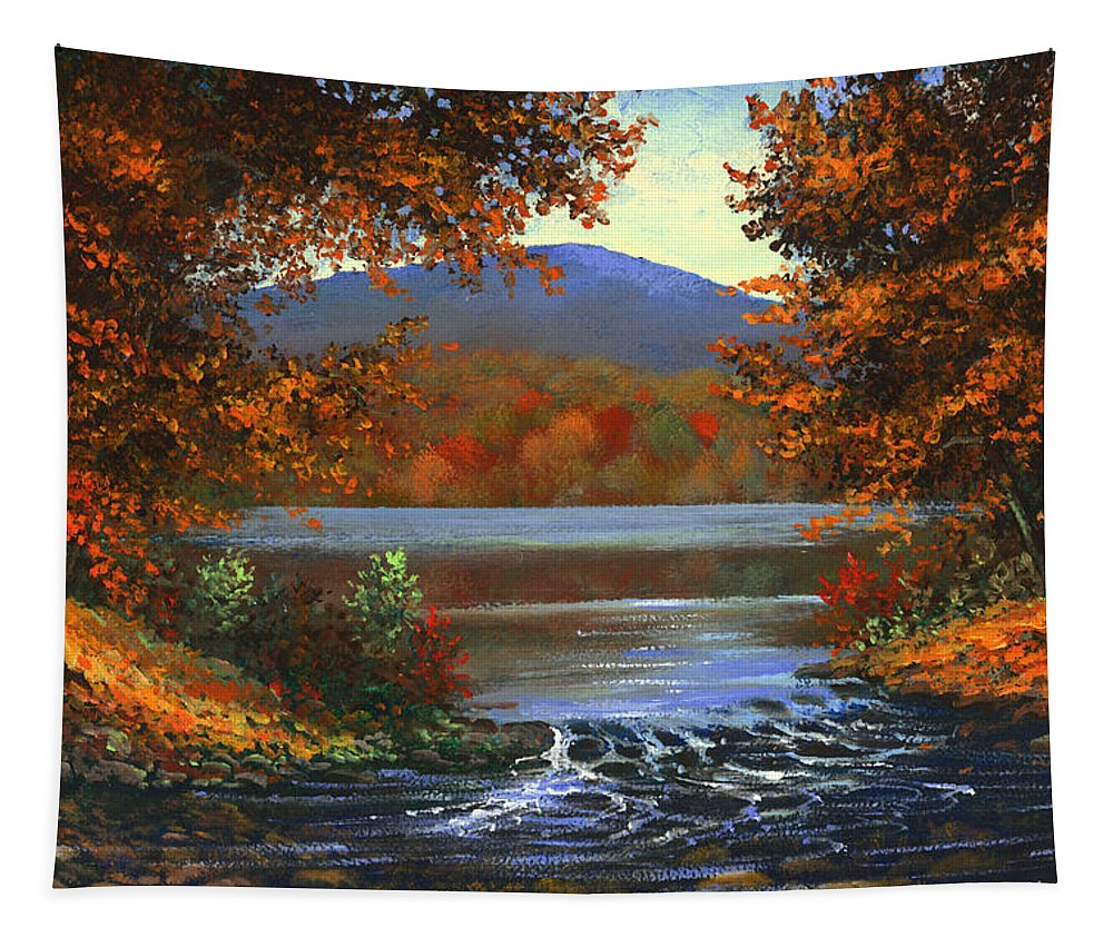 Landscape Tapestry featuring the painting Headwaters by Frank Wilson