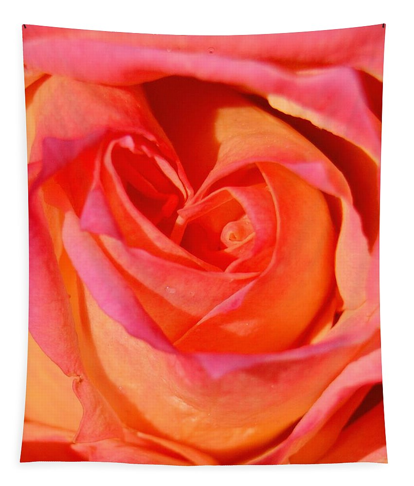 Heart Of The Rose Tapestry featuring the photograph Heart Of The Rose by Lisa Wooten