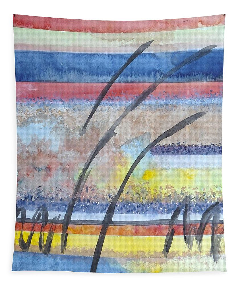 Abstract Tapestry featuring the painting Heartbeat by Jacqueline Athmann