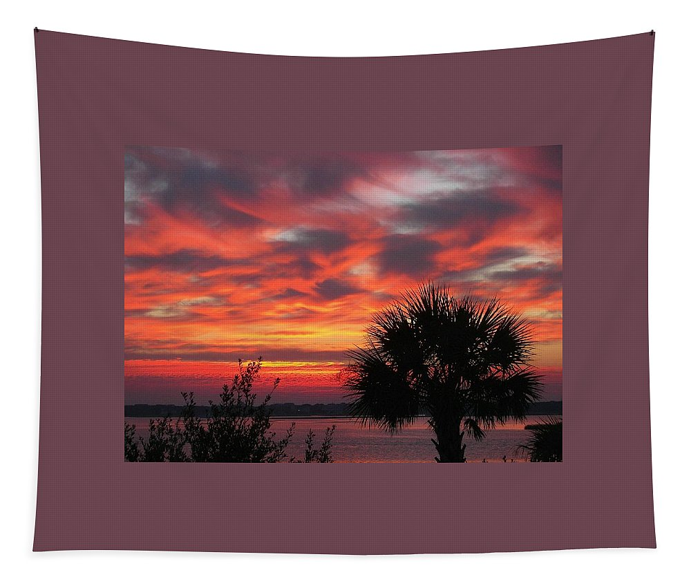 Sunsets Tapestry featuring the photograph Heaven On Earth by Karen Wiles