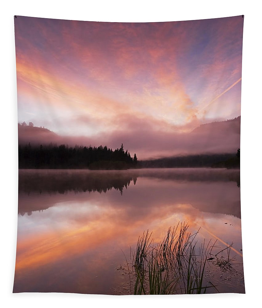 Sunrise Tapestry featuring the photograph Heavenly Skies by Mike Dawson