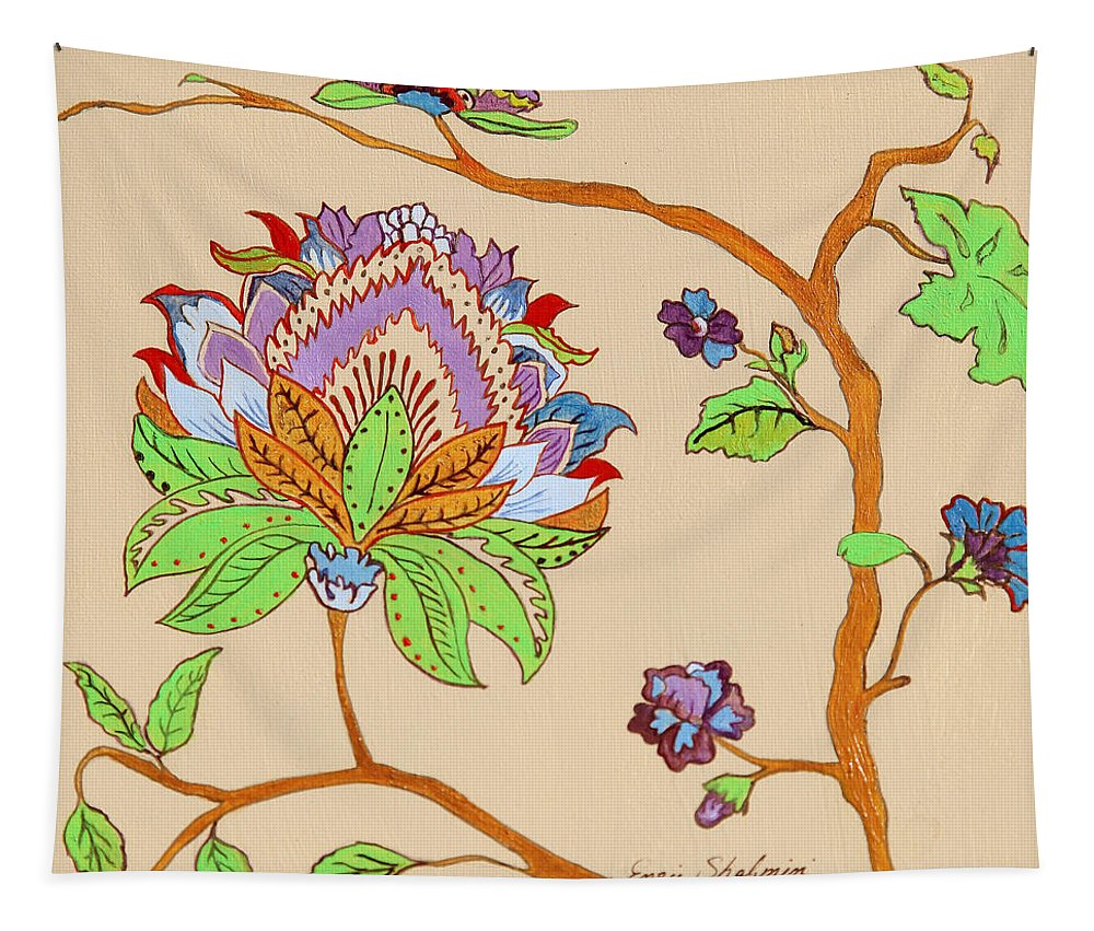 Floral Tapestry featuring the painting Heavens Flower by Portraits By NC