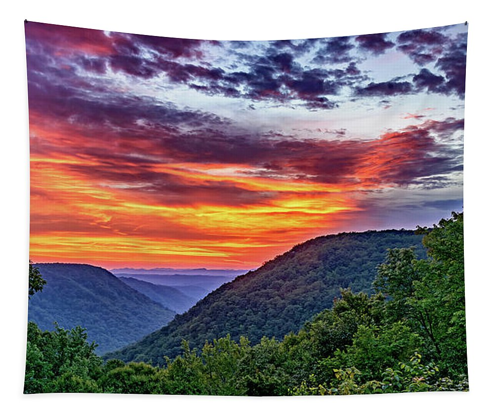 Babcock State Park Tapestry featuring the photograph Heaven's Gate - West Virginia 2 by Steve Harrington