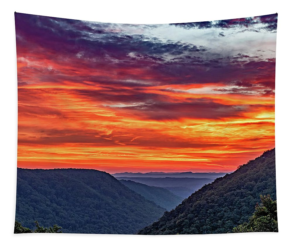 Babcock State Park Tapestry featuring the photograph Heaven's Gate - West Virginia 3 by Steve Harrington